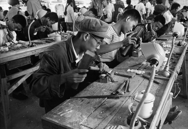 1970s, China Artisans Carving Artifacts out of Ivory, courtesy, Getty Photos