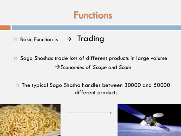 Fig. 1 Typical Functions of a Japanese Sogo Shosha